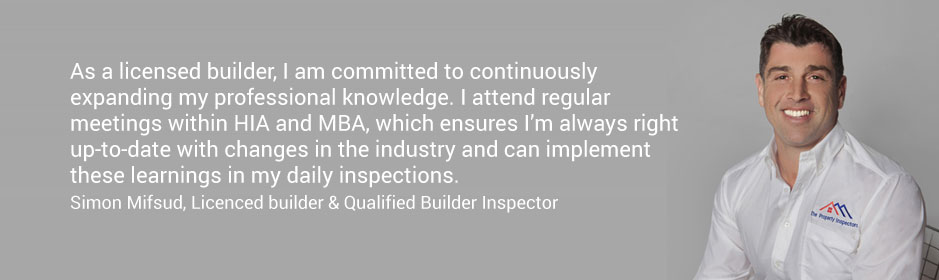 Simon Mifsud, Licenced builder and Qualified Builder Inspector